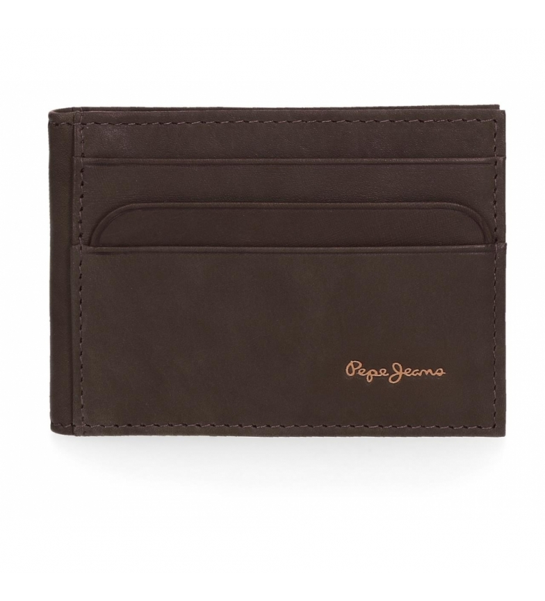 Comprar Pepe Jeans Leather Card Holder Pepe Jeans Pepe Fair Brown -9.5x7.5x1cm