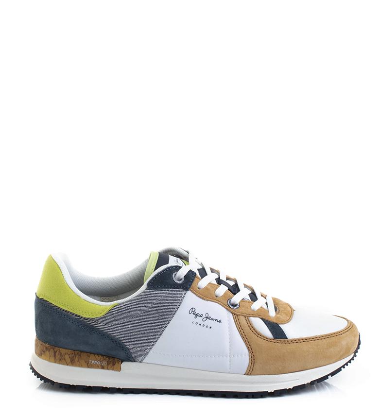 Comprar Pepe Jeans Chaussures Tinker Pro Camp blanc, bleu, marron