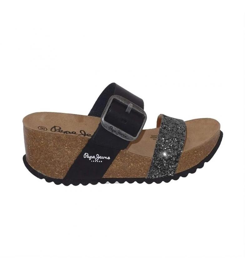 Comprar Pepe Jeans Sandali Tyron Steel LFR neri -Altezza zeppa: 7 cm-