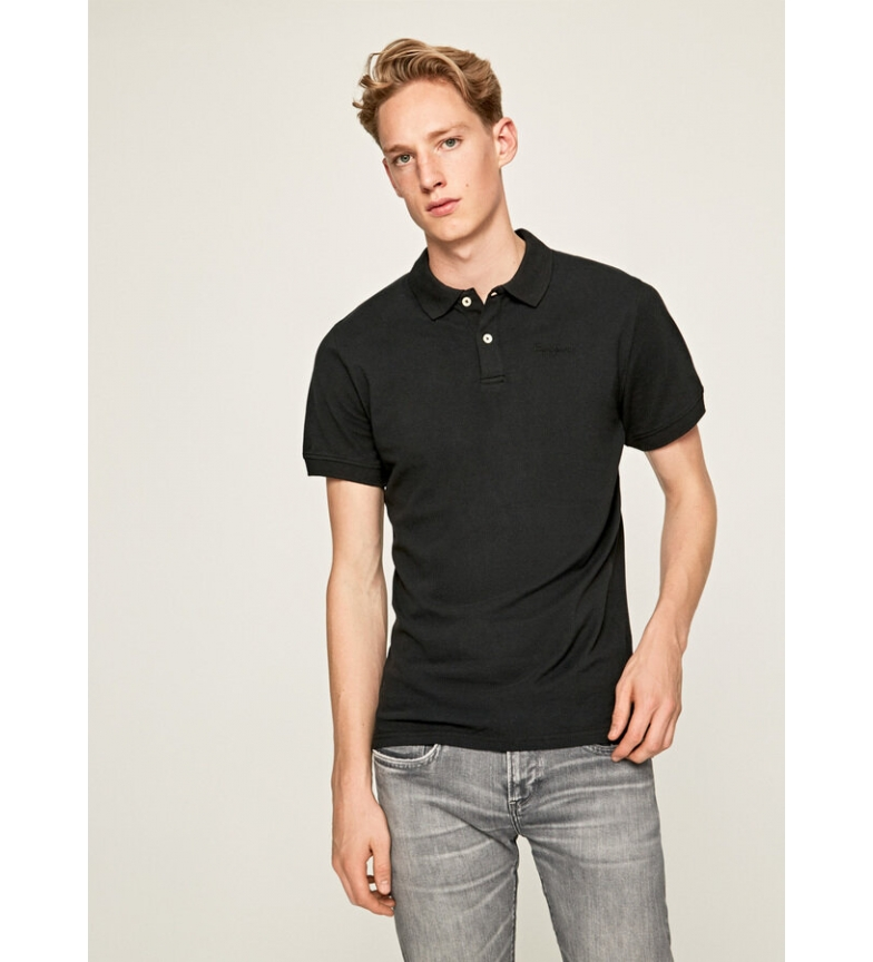 Comprar Pepe Jeans Vincent black polo shirt