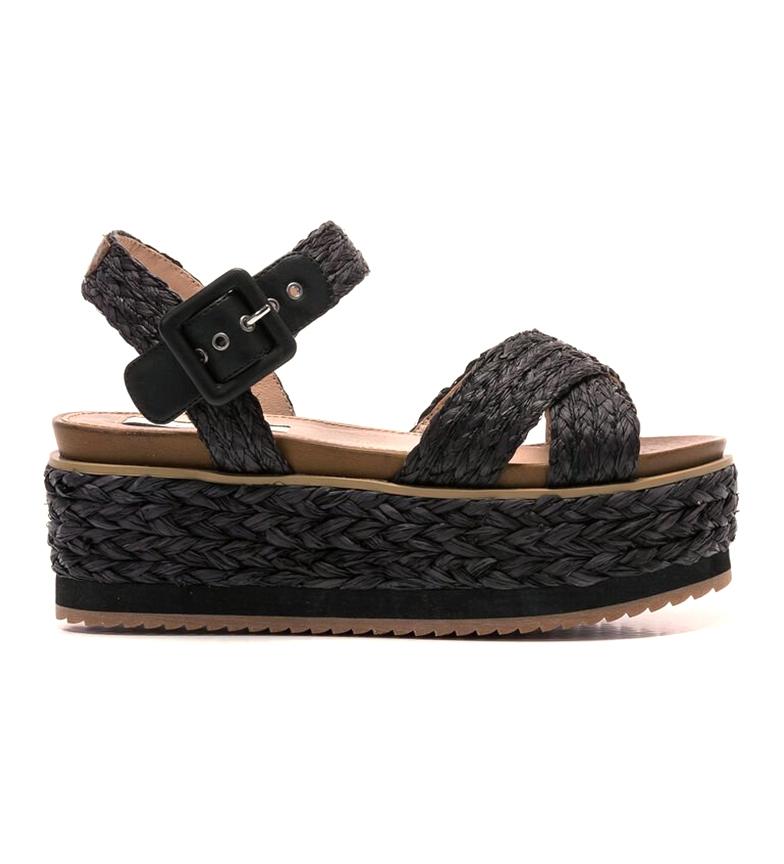 Pepe Jeans Sandals Wick Natural black -Platform height: 6cm