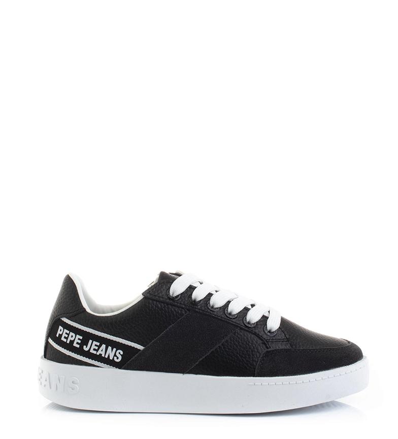 Comprar Pepe Jeans Zapatillas de piel Brixton Tape negro