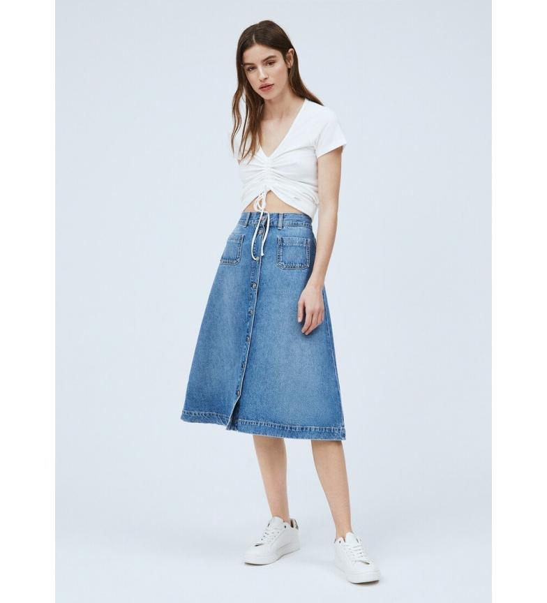 Comprar Pepe Jeans Jupe midi en denim Annabelle bleu 70's