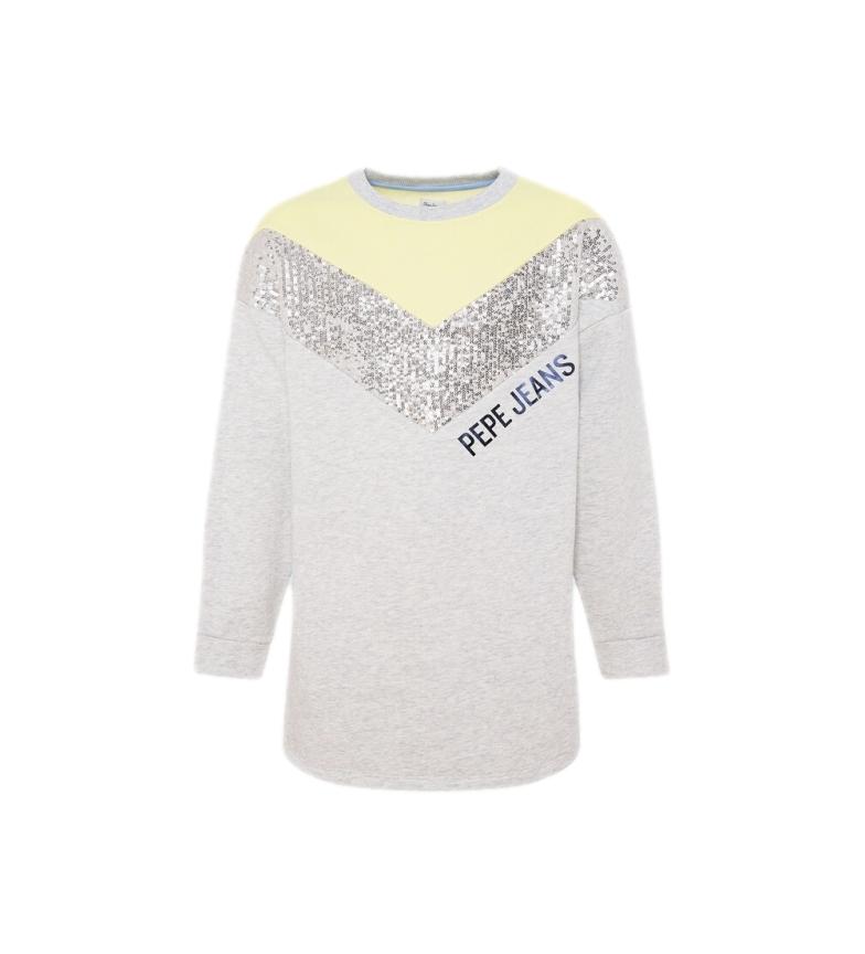 Comprar Pepe Jeans Robe sweatshirt Charlotte gris, jaune