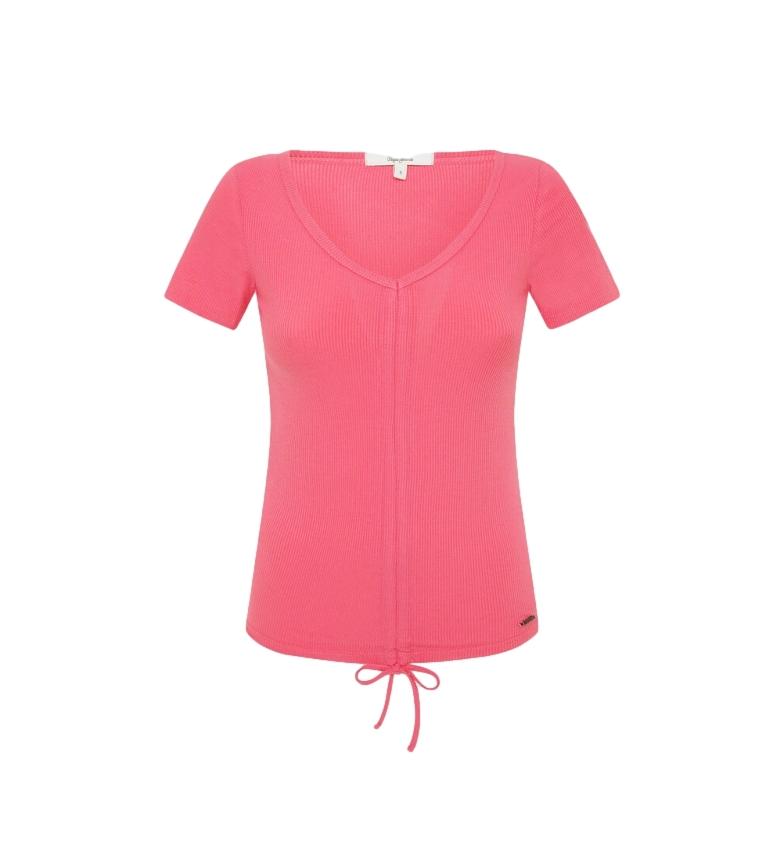 Comprar Pepe Jeans Freja pink ribbed T-shirt