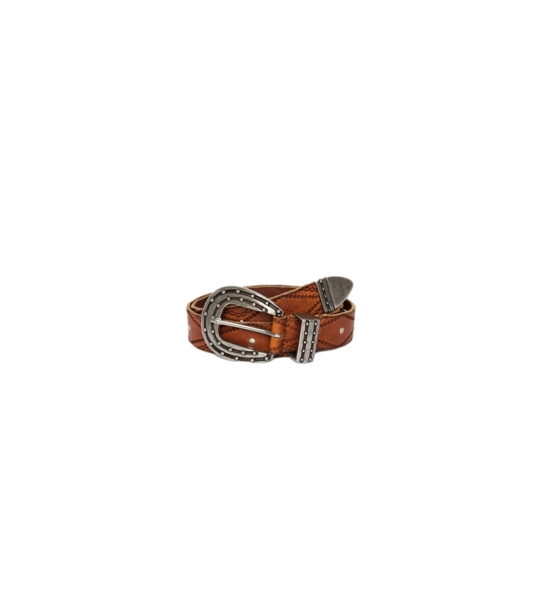 Pepe Jeans Kaia brown leather belt