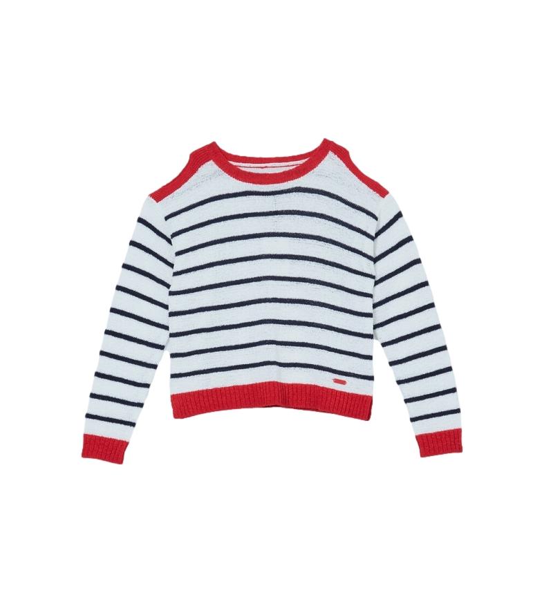 Comprar Pepe Jeans Camisola listrada Luna vermelha, marinha, branca