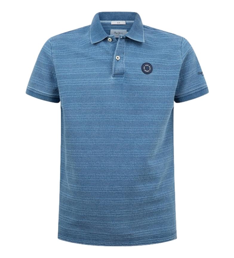 Pepe Jeans Camisa pólo azul Mauro