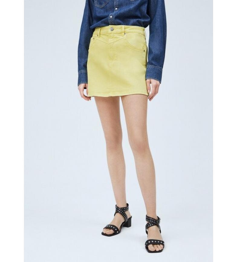 Pepe Jeans Denim Miniskirt Rachel amarelo