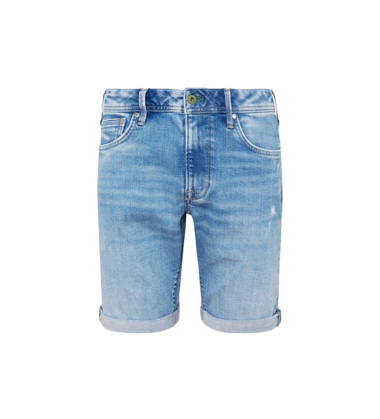 Pepe Jeans Bermuda Denim Stanley blu