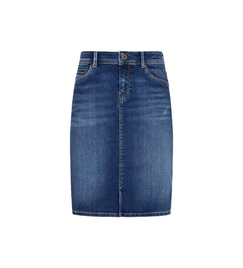 Pepe Jeans Saia de ganga Taylor azul