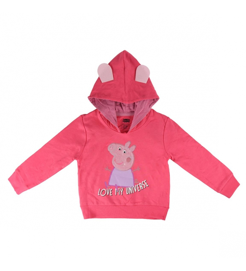 Comprar Peppa Pig Escova Flece Pink camisola com capuz rosa