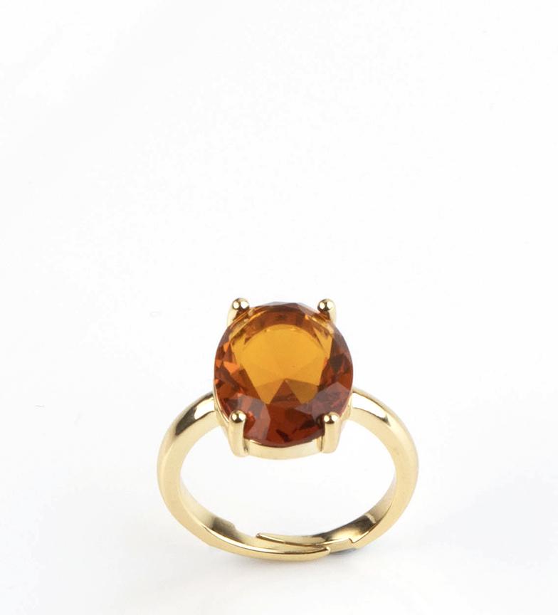 Comprar Pertegaz Anel Dourado Victoria Amber