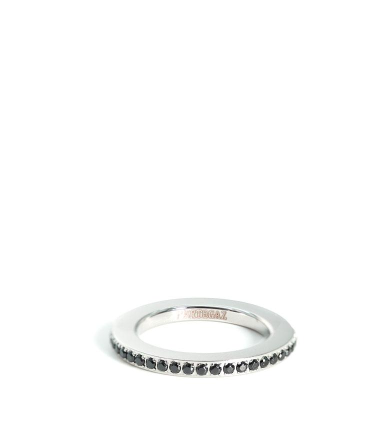 Comprar Pertegaz Play ring silver, black