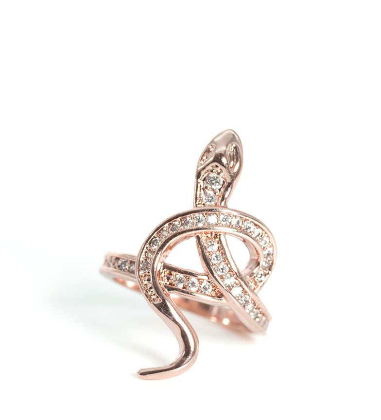 Comprar Pertegaz Pink golden snake ring