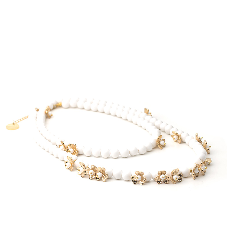 Comprar Pertegaz White Blossom Necklace