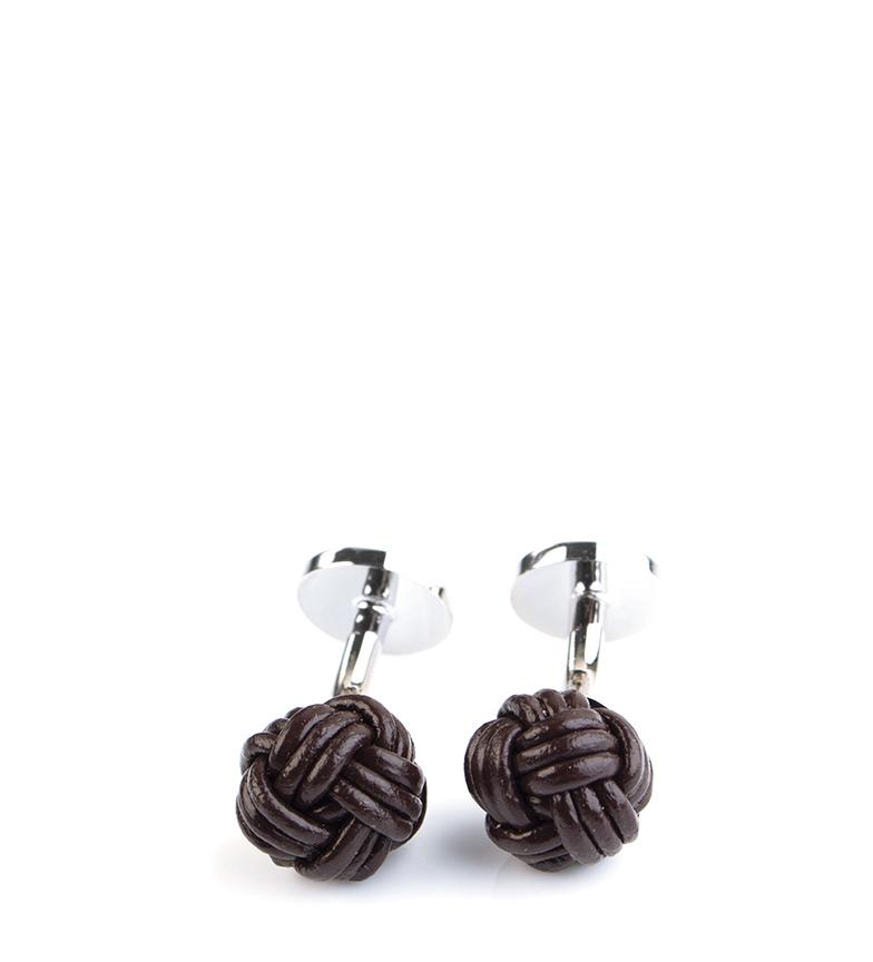 Comprar Pertegaz Leather Cufflink Brown knot