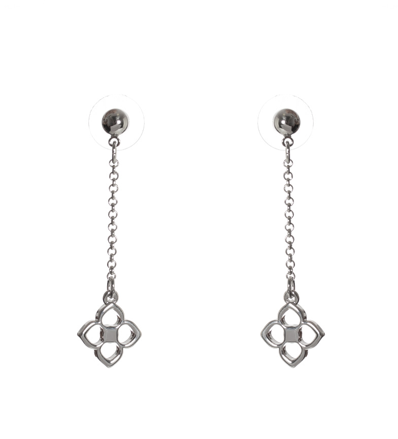 Comprar Pertegaz Loui silver openwork flower earrings -5cm-