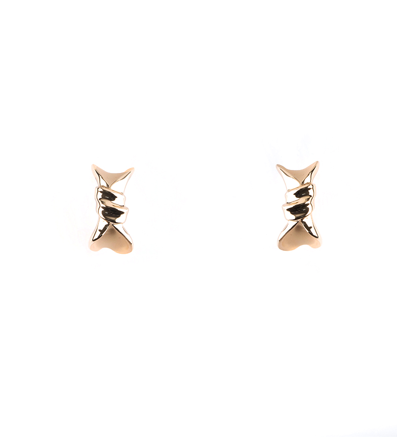 Comprar Pertegaz Silk gold tie earrings -2,3cm-
