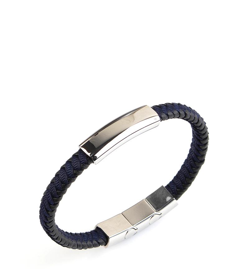Comprar Pertegaz Manuel blue leather bracelet, black