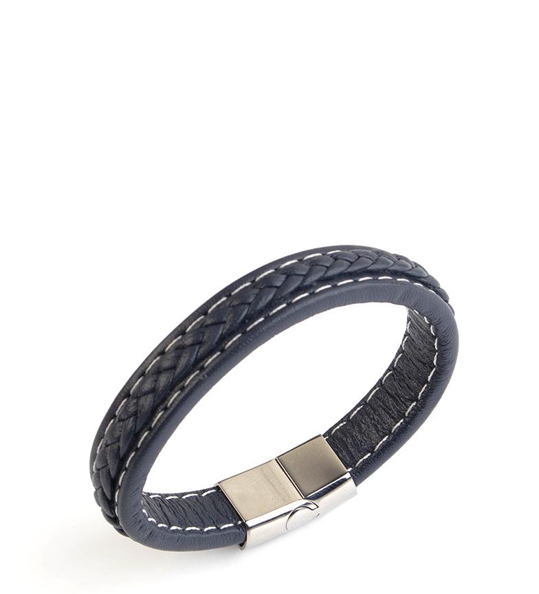 Comprar Pertegaz Leather bracelet Manuel Braid blue