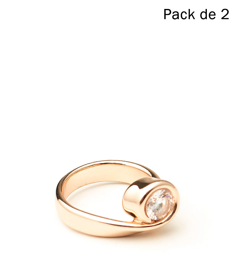 Comprar Pertegaz Set 2 Gold Twist Rings -T14 / T16-