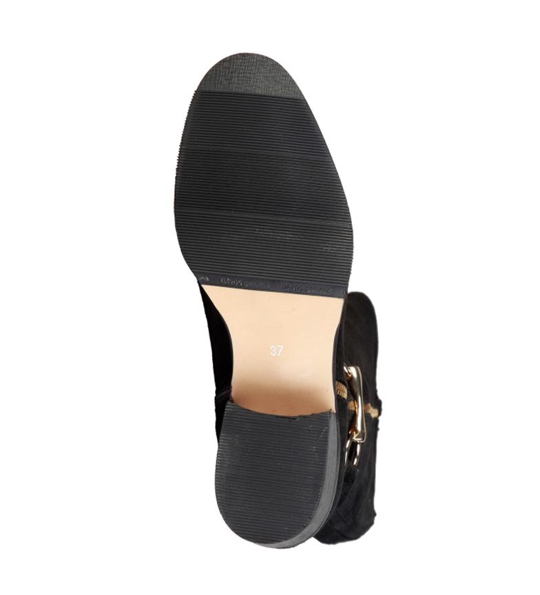 9286bade8 Pierre Cardin - Botas de piel 4105215 beige Mujer chica Negro 3 a ...