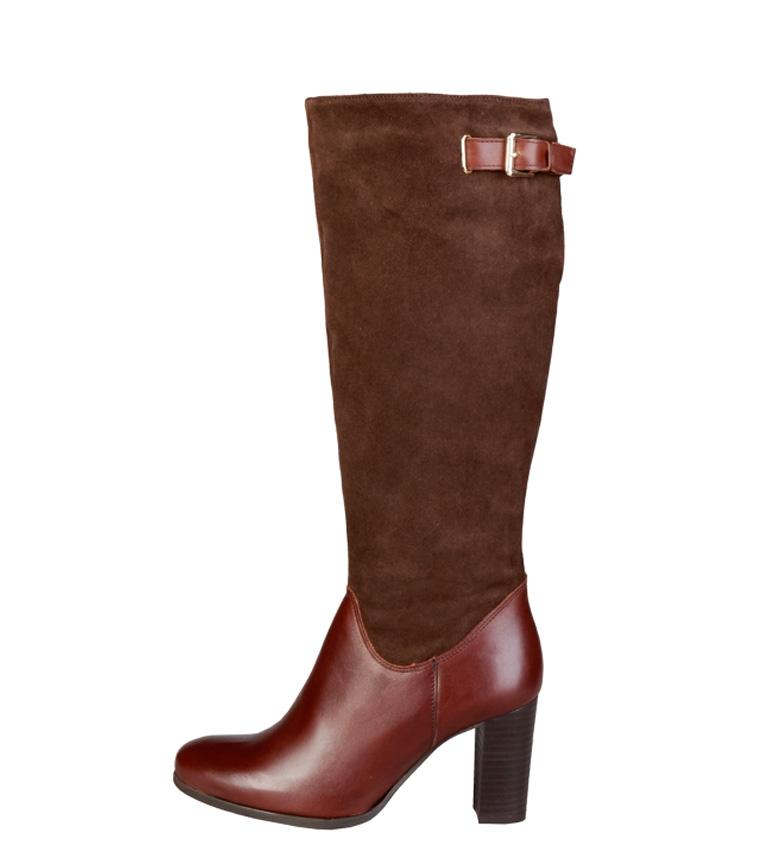 Comprar Pierre Cardin Leather boots 8060505 brown -Heel height: 8cm-