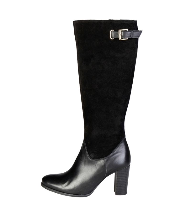 Comprar Pierre Cardin Leather boots 8060505 black -Heel height: 8cm-