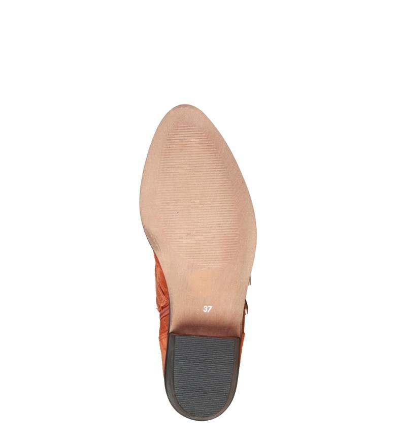 Botines 4 4114101 tacón de marrón piel Cardin Altura 5cm Pierre Rwqp85p