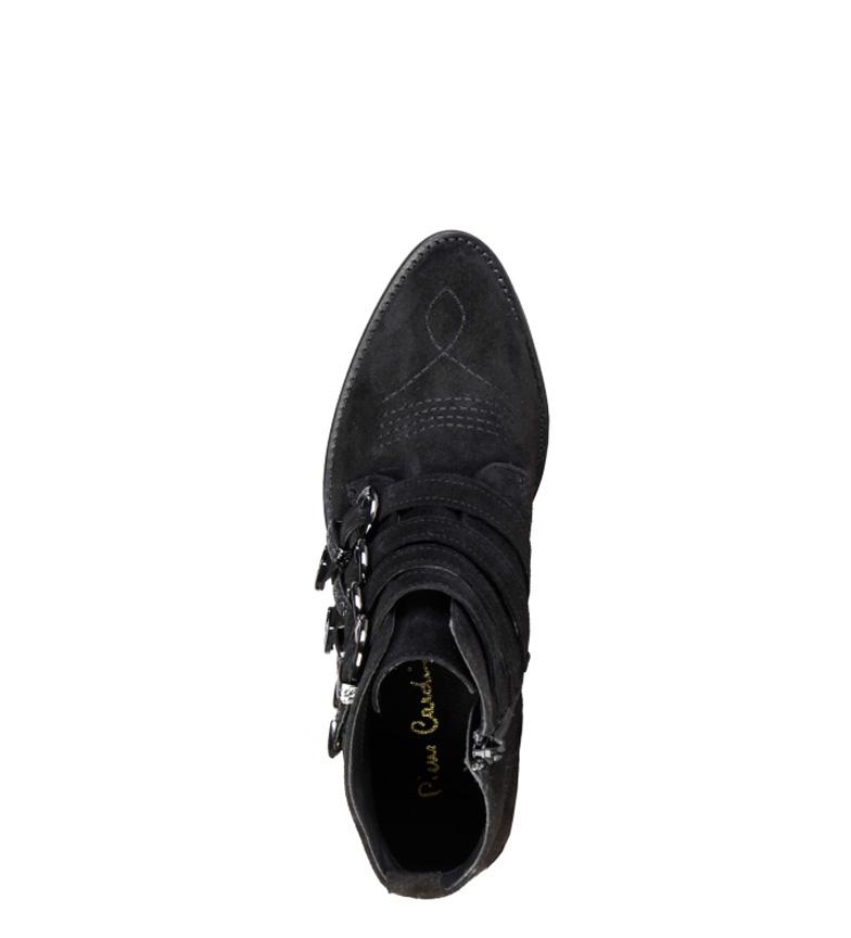 piel Pierre negro 5cm 4 tacón 4114101 Botines Altura Cardin de rqXqt6