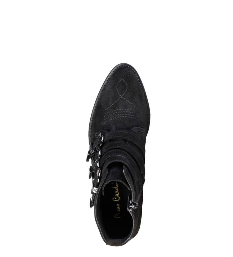 Botines de Cardin Altura 5cm negro tacón 4114101 piel Pierre 4 A6gxTwqaw