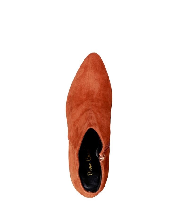 5238300 Altura de marrón Cardin Botines piel 5 5cm Pierre tacón qnSfpIwC
