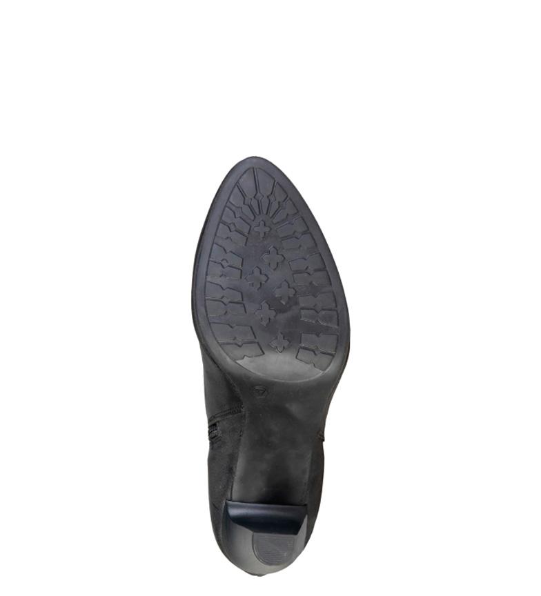 negro 7129K736 8 5cm Cardin piel Pierre de altura tacón Botines wq8Xv84IxS