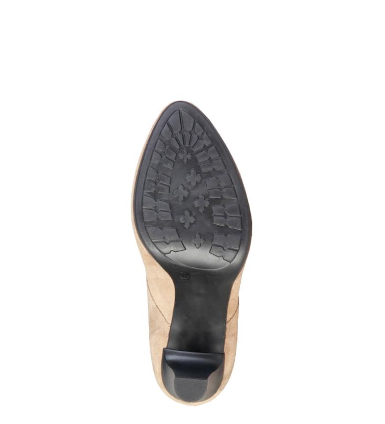 Altura 8cm piel tacón Cardin taupe Pierre 7129K781 Botines de AqnYw6xZP