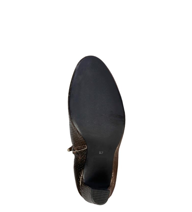 Pierre Botines 8cm tacón 7226211 piel de Cardin Altura dorado rOnxvrH7