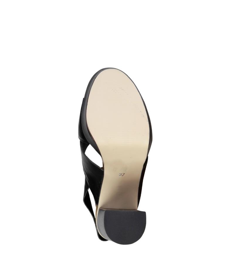 Altura 5cm Celie 12 Sandalias tacón Cardin negro Pierre qz0R8FR