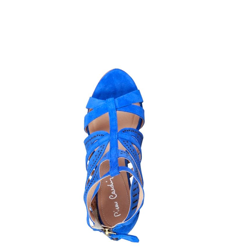 Altura tacón Cardin Pierre piel Axellen 9cm Sandalias de azul 1n4CH