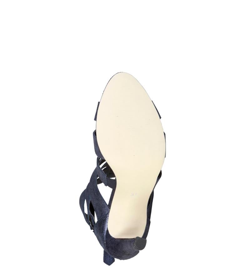 5cm 9 de Cardin Altura Sandalias tacón Eleonore azul piel Pierre z8vwq