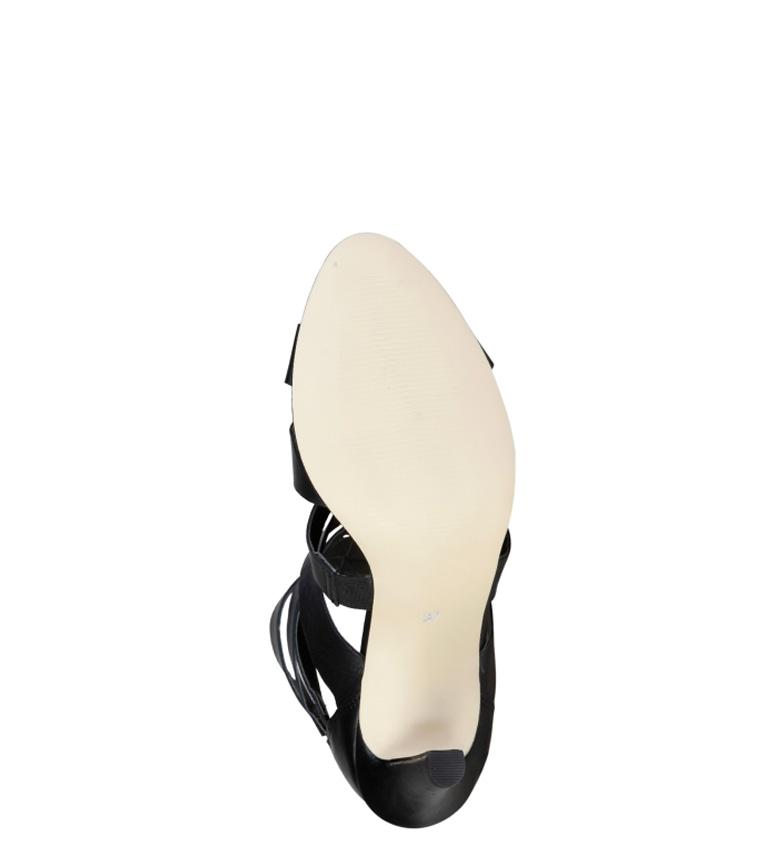 5cm 9 de Altura Pierre piel Cardin Sandalias negro tacón Eleonore 1Zzv81wq