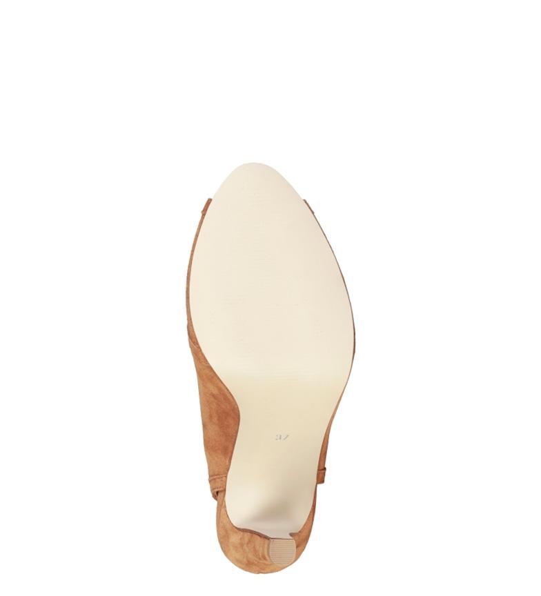 tacón Eloise de Sandalias piel marrón Cardin Altura 10cm Pierre 0gwTg