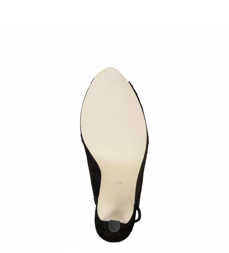 de Sandalias Cardin Altura negro Eloise Pierre 10cm piel tacón RF6wqxpg