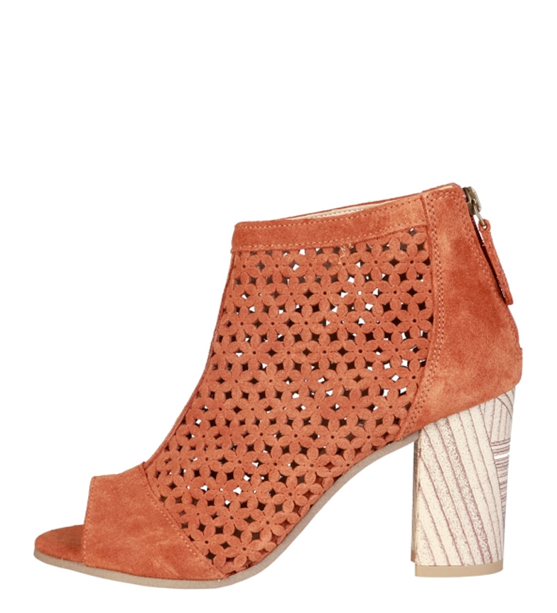 Comprar Pierre Cardin Hermeline brown leather sandals -Heel height: 8cm-