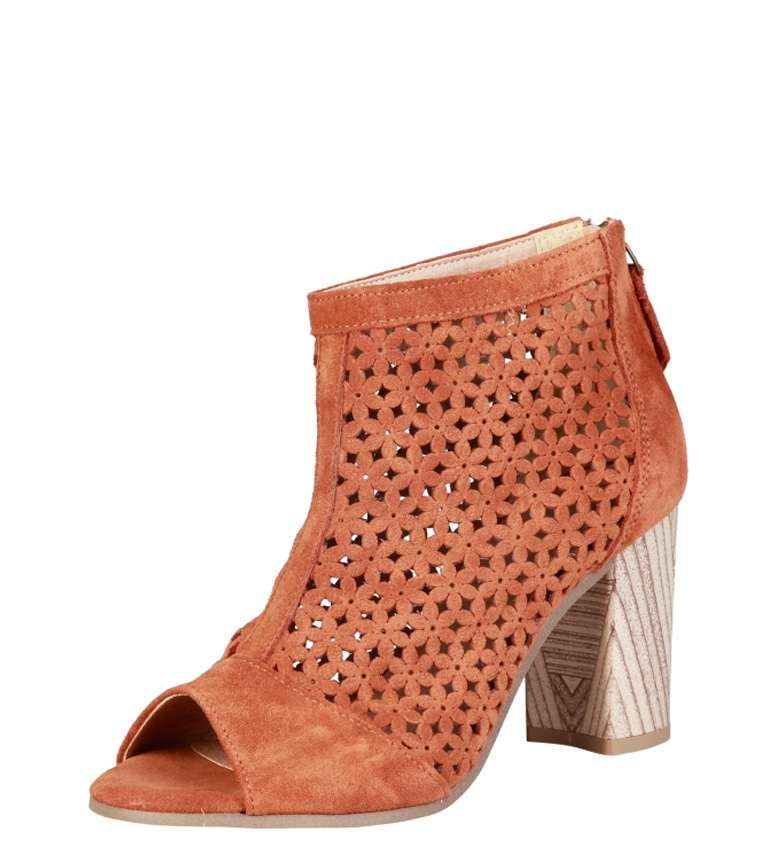 Pierre Cardin Sandalias de piel Hermeline marrón Altura tacón: 8cm