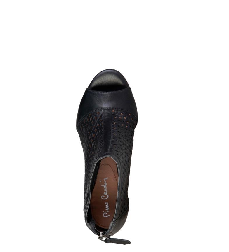 Pierre Cardin Sandalias de piel Hermeline negro Altura tacón: 8cm