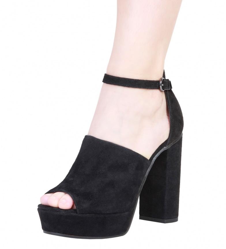 Pierre Cardin Sandalias de piel Micheline negro Altura tacón: 12cm