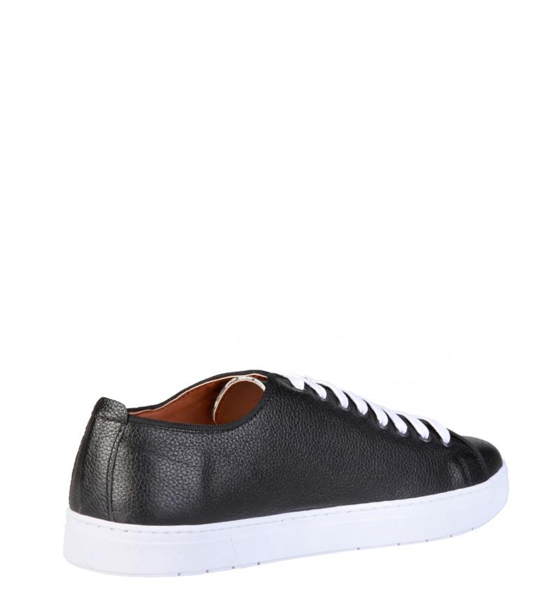 Pierre Cardin - Zapatillas de piel Clement negro ujhIcPu