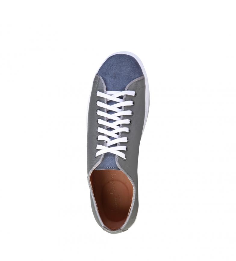 Pierre Cardin - Zapatillas de piel Edgard gris 3GBrQ2Pq0