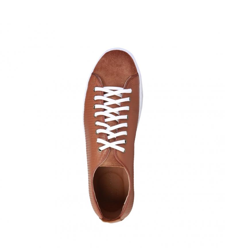 Pierre Cardin Zapatillas de piel Edgard marrón