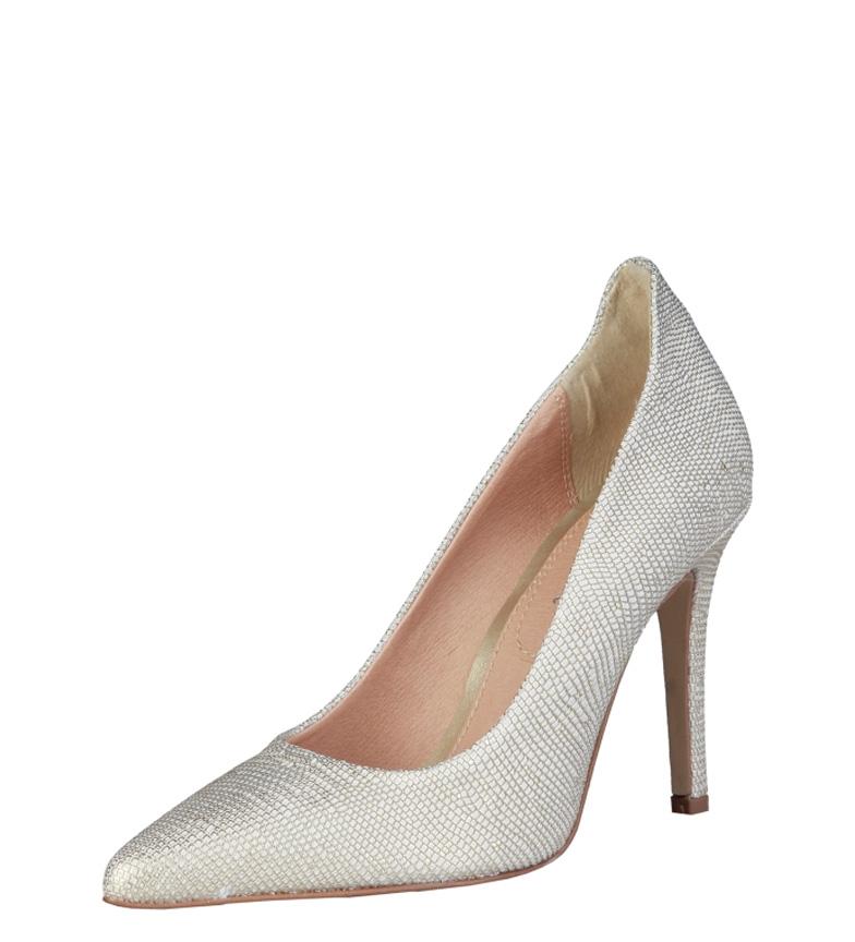 Pierre Cardin 10 Altura cm de Louane Zapatos blanco piel tacón 8rqwrYd